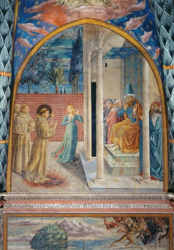 sultan and the saint film fresco st francis of assisi trial by fire before the sultan