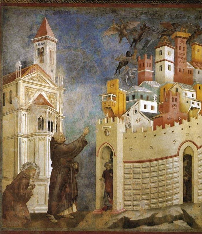 sultan and the saint film giotto di bondone expulsion of the devils from arezzo