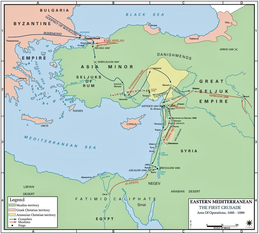 sultan and the saint film map of first crusade eastern mediterranean